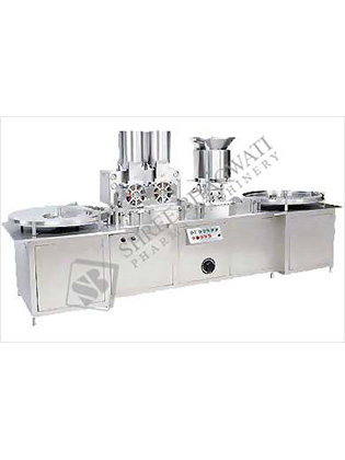 Automatic High Speed Injectable Powder Filling With Rubber Stoppering Machine