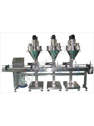 Automatic Three Head Auger Type Powder Filling Machine