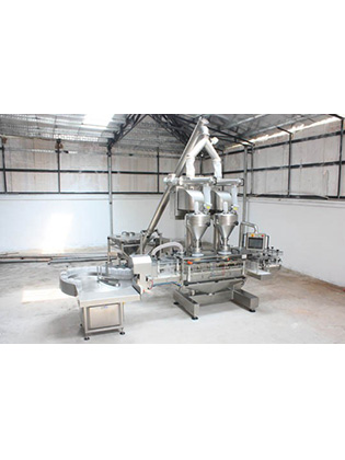 Auger Filler And Powder Filling Line Protein / Talc / Food, Pharma